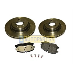 disc & pad kit front rr 6a 9a
