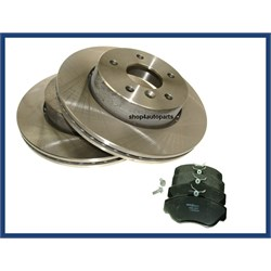 discs & pad kit front range rover p38a
