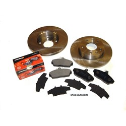 BDK7: Brake kit disc/pad set front freelander ya