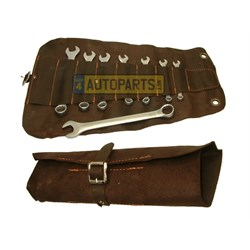 ET77125: COMBINATION SPANNER SET METRIC LEATHER CASE