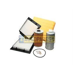 FKP384: FILTER SERVICE KIT RANGE ROVER P38 DIESEL FROM TA346794 WITH METAL CAP OIL FILTER COVER