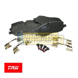 LR019618T: BRAKE PAD SET FRONT TRW LAND ROVER DISCOVERY 3 4 RANGE ROVER SPORT RANGE ROVER SFP500010