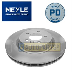 SDB000624M BRAKE DISC FRONT COATED MEYLE