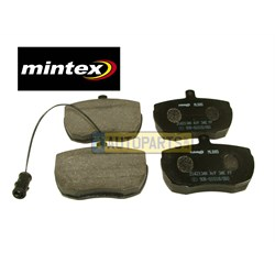 SFP500220M: BRAKE PAD SET MINTEX DISCOVERY/RANGE ROVER FRONT SOLID WITH SENSOR