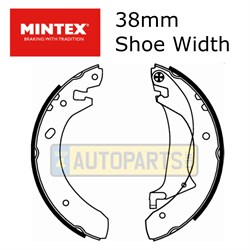 SFS000061M: BRAKE SHOES REAR FREELANDER MINTEX TO YA999999